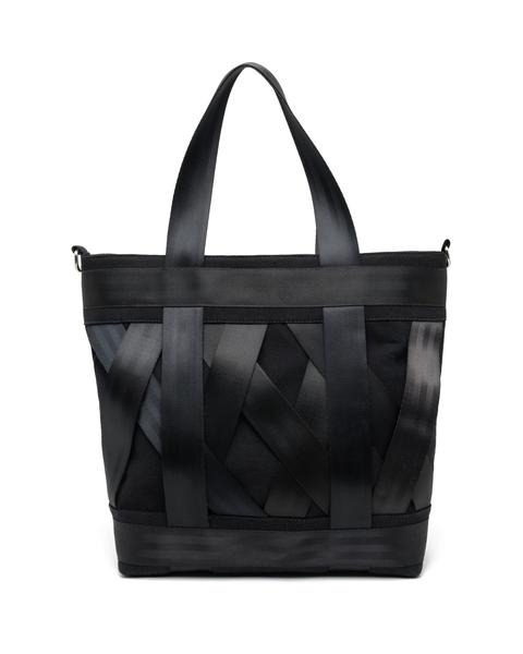 Leka Black Seatbelt tote bag From Belo, Onwards and Up London