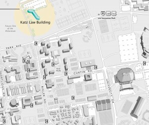 Location of the Katz Law Building