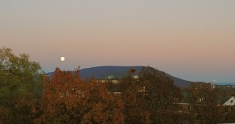 "Photo by Brian Bates. ""Autumn moonrise over Happy Valley."""