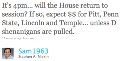 "Stephen MIskin is the spokesman for Pennsylvania's House Republican Caucus, and apparently he doesn't like ""D shenanigans"" any more than the next guy."