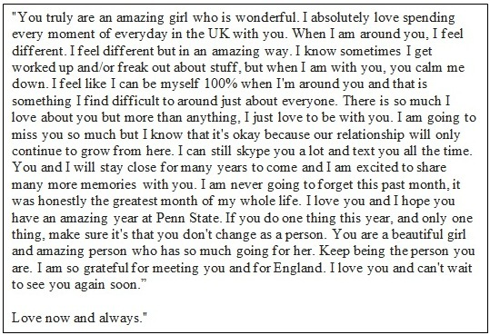 Valentine Love Letters Him  Valentine Gift