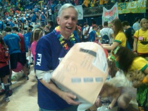 Mike the Mailman at THON 2011. Photo by Kevin Horne
