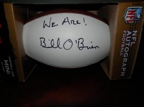 Bill O'Brien Signed Football