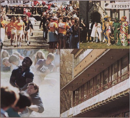 Pictured above are a few scenes from Sigma Chi's Derby Days, circa 1979. (From La Vie 1979.)
