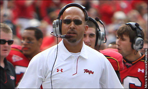 Franklin coaching the Terps (Photo: PressBox Online)