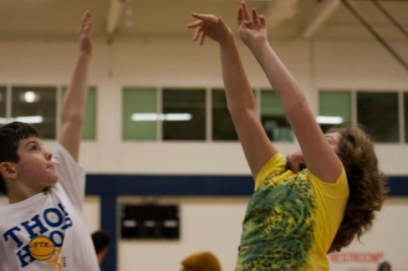 That's pretty good shooting form -- perhaps she has a future with the Lady Lions basketball team?