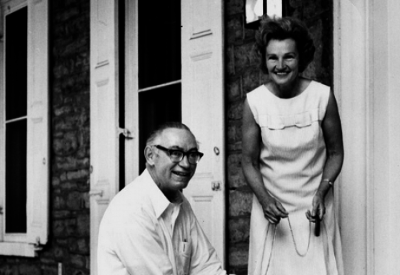 President Eric Walker and his wife, Josephine. (Photo: Penn State Libraries)