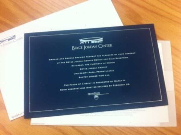 Invite to BJC dedication