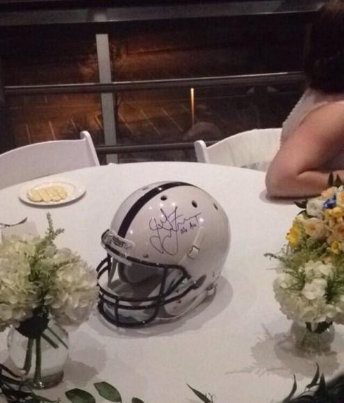 signed helmet