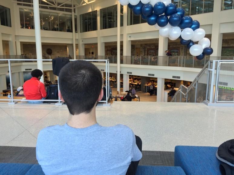 blue lounge view
