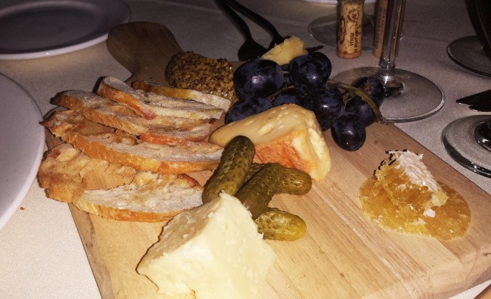 Cheese plate. (Photo: Zach Berger)