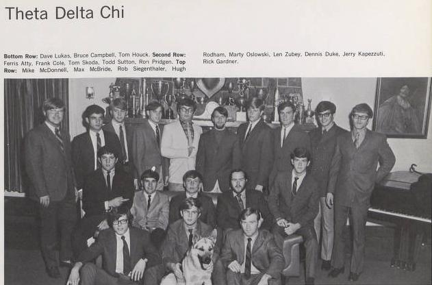 Theta Delta Chi Fraternity Photo: Penn State Archives