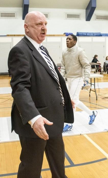 Head coach Wes Glon looks on during the 2015 Penn State Garret Open. (Photo: Jen Hudson)