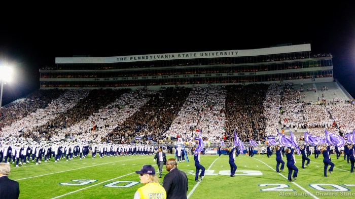 Beaver Stadium Stripe Out Rutgers 2015