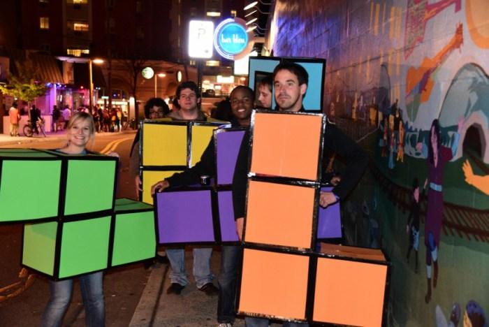 Halloween costume tetris