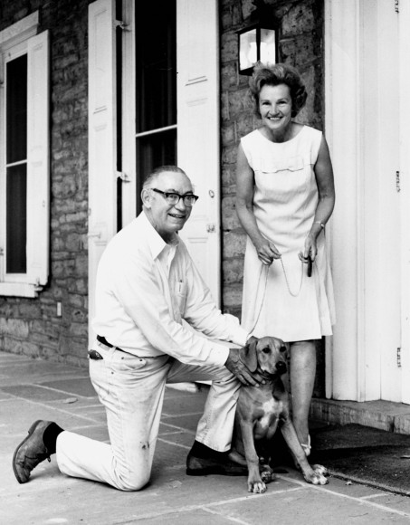 Dr_and_Mrs_Eric_Walker_with_their_dog