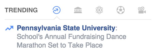 thon is trending on facebook