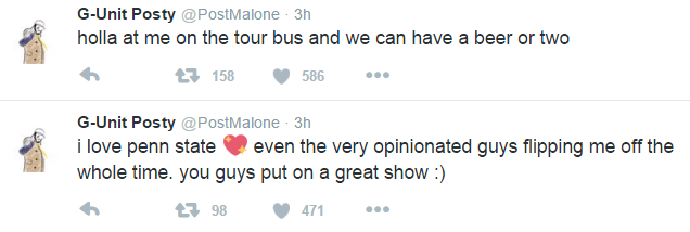 post malone tweets