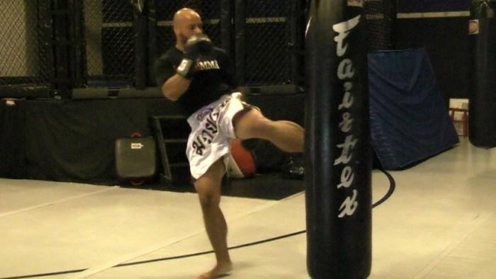 Corey Tilghman body bag training.