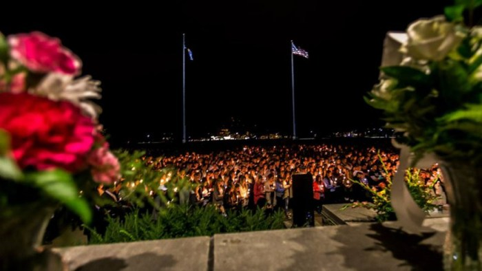 The campus comes together in a candlelit vigil to mourn the lost of Tally Sepot, a classmate and friend.