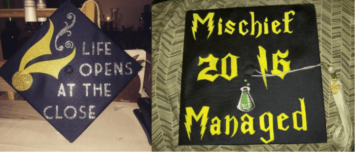 harry potter grad caps