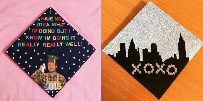television inspired grad caps