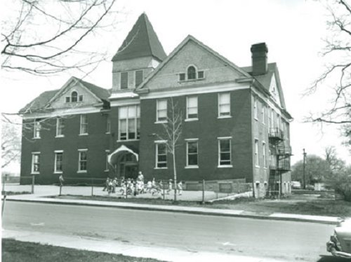 The Frazier building which was erected in 1897 as one of the first public schools in the area, attendance was made mandatory for children 8-13.