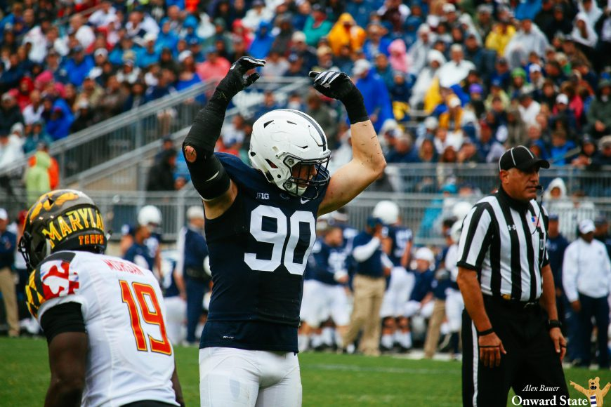 Garrett Sickels Penn State Football vs. Maryland 2016