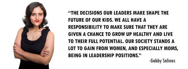 Gabby Salinas supports women in leadership