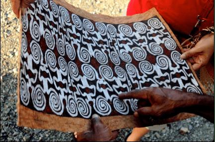 Papua bark arts - Banyuwinata.wordpress.com