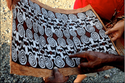 Papua bark arts - Banyuwinata.wordpress.com