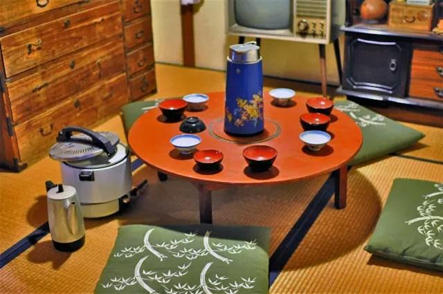 昭和のテレビをメインにした食卓