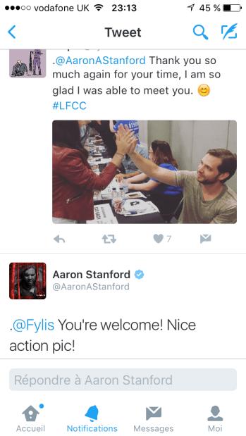 Il a répondu à mon tweet !