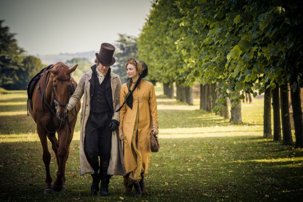 Programme Name: Death Comes to Pemberley - TX: n/a - Episode: n/a (No. n/a) - Embargoed for publication until: n/a - Picture Shows: Henry Alveston (JAMES NORTON), Georgiana Darcy (ELEANOR TOMLINSON) - (C) Origina Pictures - Photographer: Robert Viglasky