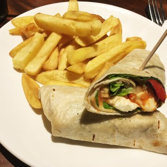 Veggie Wrap au O'Neills de King's Cross
