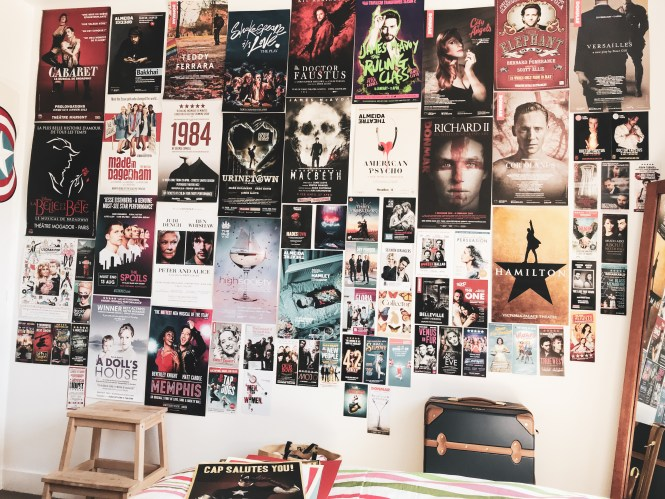 West End poster wall