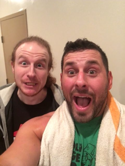 Chris Naes with Colt Cabana