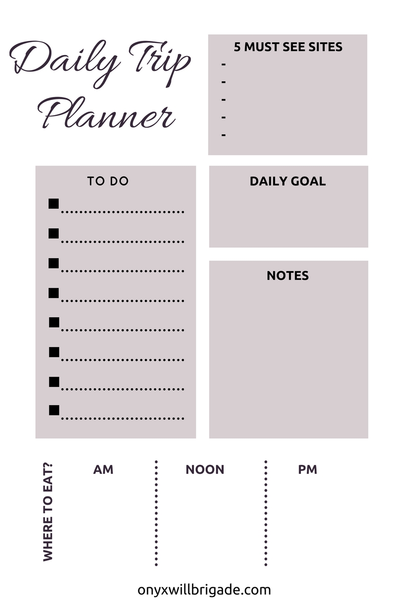 daily trip planner