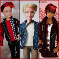 Chase Redford doll - before, after and referrence photo