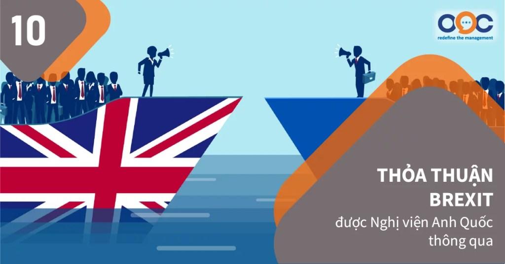 Hạ viện Anh đã thông qua lần thứ nhất thỏa thuận Brexit