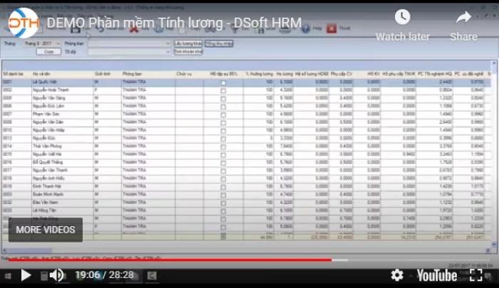 Phần mềm Quản lý tiền lương và thuế TNCN (Dsoft HRM )