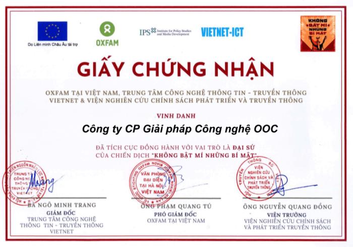 OOC trở thành Đại sứ truyền thông trong Chiến dịch An toàn, bảo mật thông tin trên mạng