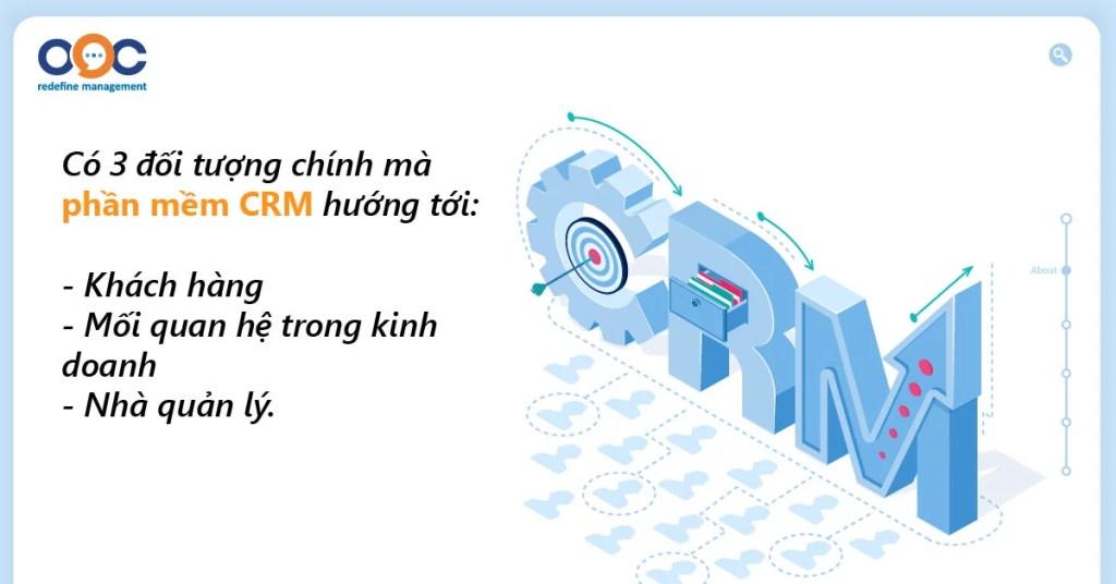 Các đối tượng phần mềm CRM hướng tới?