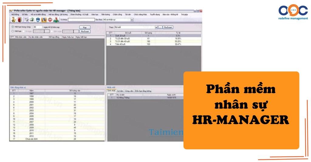 Phần mềm nhân sự HR-MANAGER