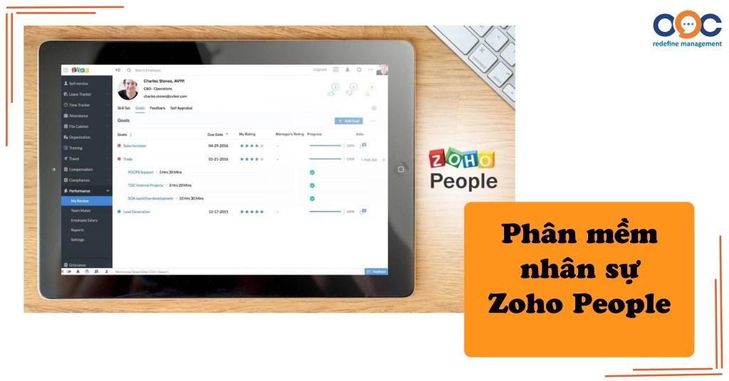 Phần mềm quản lý nhân sự Zoho People