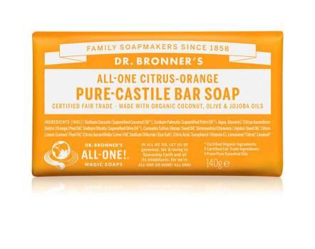 Dr. Bronners Citrus-Orange Pure-Castile Bar Soap