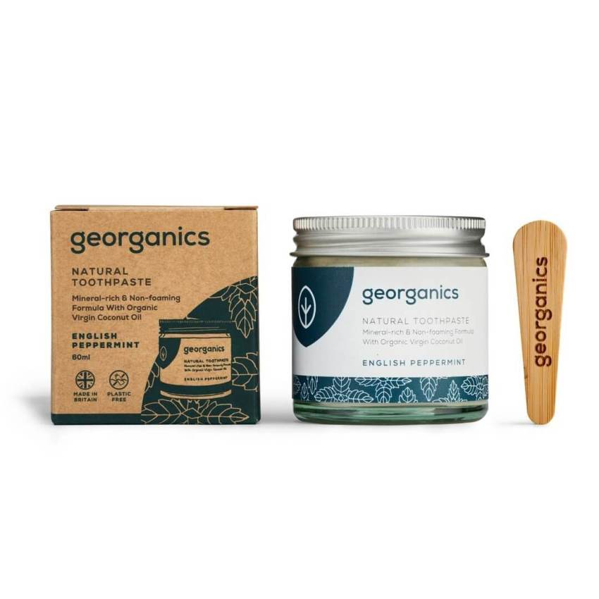 georganics zero waste toothpaste english peppermint