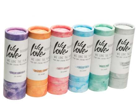 We Love the Planet Deodorant Stick in cardboard packaging