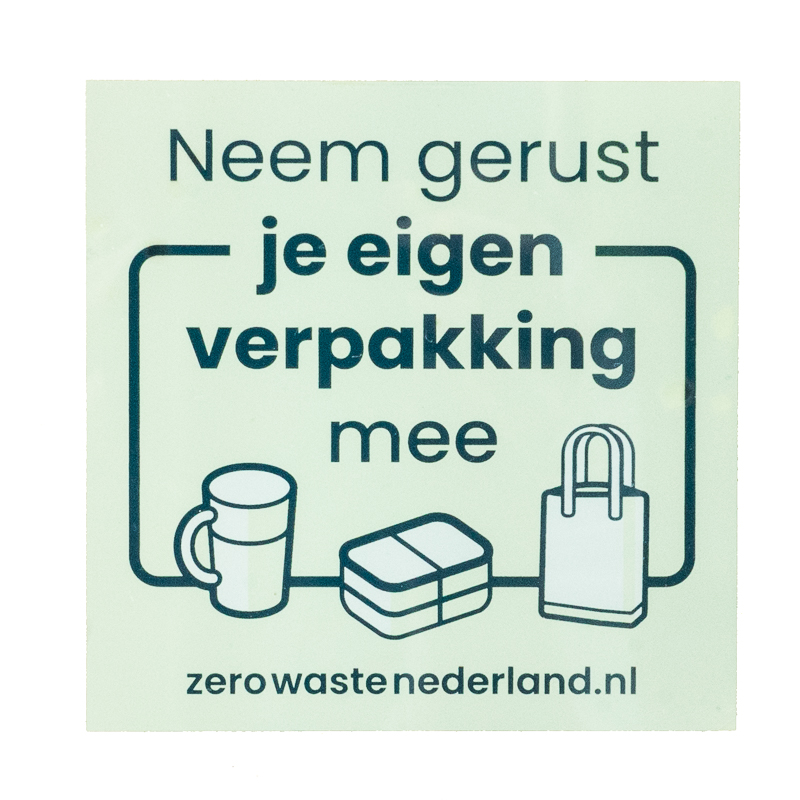 Zero Waste Nederland Window Sticker