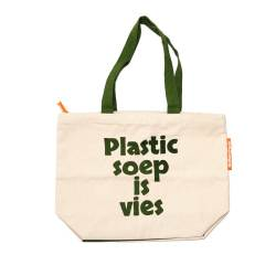 "Big Shopper Bag ""Plastic soup is vies"""